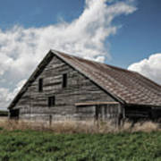 Way Of Life - Weathered Barn In Kansas Poster