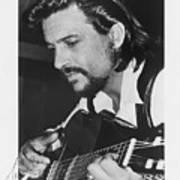 Waylon Jennings 1971 Signed Poster