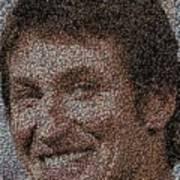 Wayne Gretzky Hockey Puck Mosaic Poster