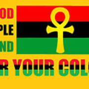 Wear Red Black And Green Poster