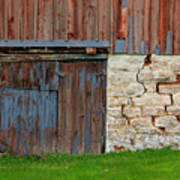 Weathered Barn Door Poster