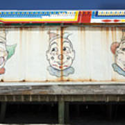 Weathered Clowns Poster