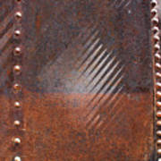 Weathered Metal Rivets Poster