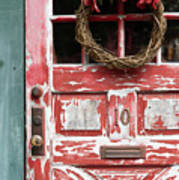 Weathered Red Door 3 Poster