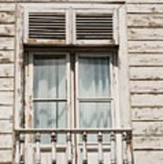 Weathered Window Balcony Poster