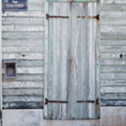 Weathered Wooden Door In France Poster