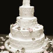 Wedding Cake Petals Poster
