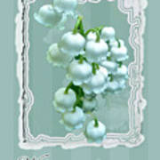 Wedding Happiness Greeting Card - Lily Of The Valley Flowers Poster