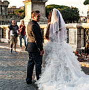 Wedding Stroll On The Ponte Sant'angelo Poster