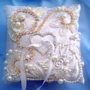 Weding Ring Pillow. Ameynra Design Poster
