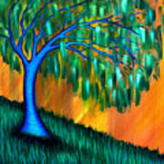 Weeping Willow Poster by Brenda Higginson