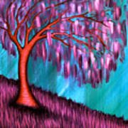 Weeping Willow II Poster by Brenda Higginson