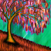 Weeping Willow IIi Poster by Brenda Higginson