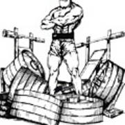 Weight Lifter Poster