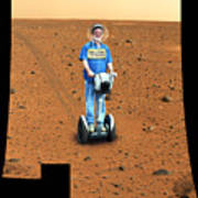 Welcom To Mars Poster by Larry Mulvehill