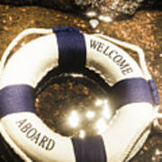 Welcome Aboard Nautical Paradise Poster