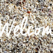 Welcome Seashell Background Poster