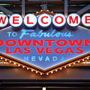 Welcome To Downtown Las Vegas Sign Slotzilla Poster