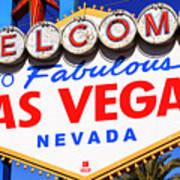 Welcome To Las Vegas Sign Poster