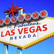 Welcome To Las Vegas Sign Only Boulder Highway Day Poster