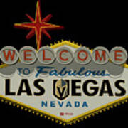Welcome To Vegas Knights Sign Digital Drawing Poster