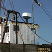 Wellfleet Fishing Boat Cape Cod Massachusetts Poster