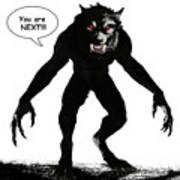 Werewolf Comic Illustration 1 Poster