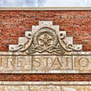 West Bottoms Fire Station Terracotta Dwc Poster