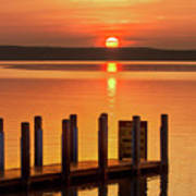 West Dnr Boat Launch July Sunrise Poster