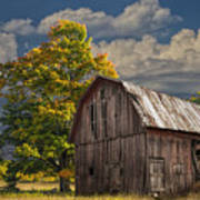 West Michigan Barn In Autumn Poster