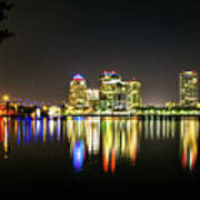 West Palm Beach Downtown Panoramic Poster