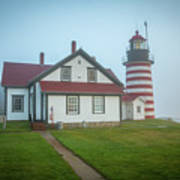 West Quoddy Head Light 2 Poster