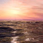 West Sunset Romantic Poster