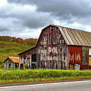 West Virginia Barn Poster