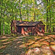 West Virginia Cabin Poster