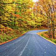 West Virginia Curves - In A Yellow Wood - Paint Poster