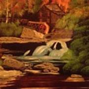 West Virginia Grist Mill Poster