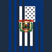 West Virginia State Flag Graphic Usa Styling Poster