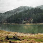 Western Cascades River Poster