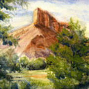 Western Landscape Watercolor Poster