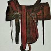 Western Saddle Poster