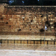 Empty Western Wall Poster