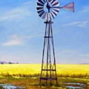Western Windmill Poster