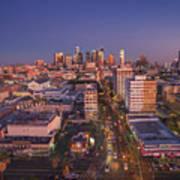 Westlake Los Angeles Aerial Poster