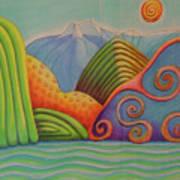 Westland Lake Nz Poster by Barbara Stirrup