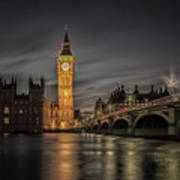 Westminster At Night Poster