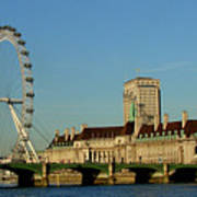 Westminster Bridge And London Eye Poster