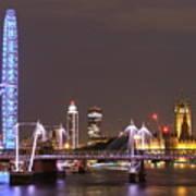 Westminster From Waterloo Bridge London Poster