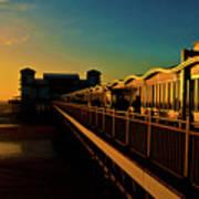 Weston Pier At Sunset Poster