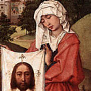 Weyden Crucifixion Triptych  Right Wing  Poster